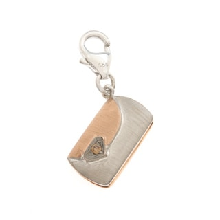 Diamonds For A Cure 14k Yellow Gold Clutch Purse Charm