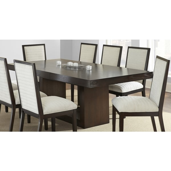 Amia Espresso Dining Table with Removable Leaf