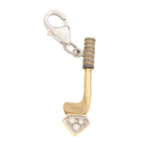 Diamonds For A Cure 14k Yellow Gold Golf Club Charm