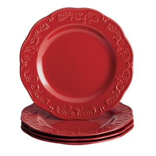 Paula Deen Signature Dinnerware Spiceberry 4-piece 11-inch Red Dinner Plate Set