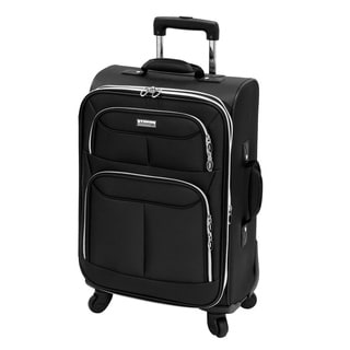 Advantage Flight Collection Black 21-inch Carry On Spinner Upright