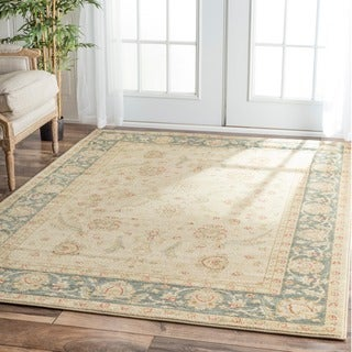 nuLOOM Traditional Ziegler Mahal Ivory Rug (5'3 x 7'7)