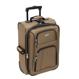 Advantage Lightweights Collection Taupe 21-inch Carry On Rolling Upright