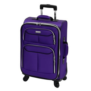 Advantage Flight Collection Purple 21-inch Carry On Spinner Upright