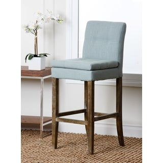 Abbyson Living Colin Light Blue Linen Bar Stool
