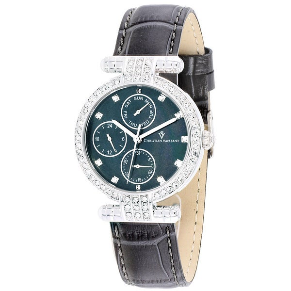 Christian Van Sant Women's Night Life Grey Watch