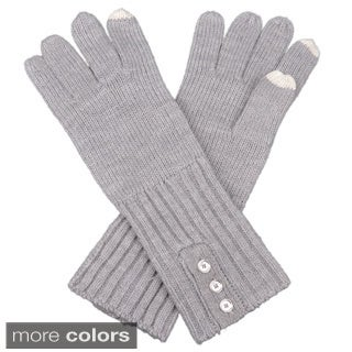 Calvin Klein Women's Button Accent Fashion Gloves