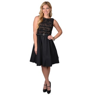 Jessica Howard Women's Sleeveless Lace Bodice Dress