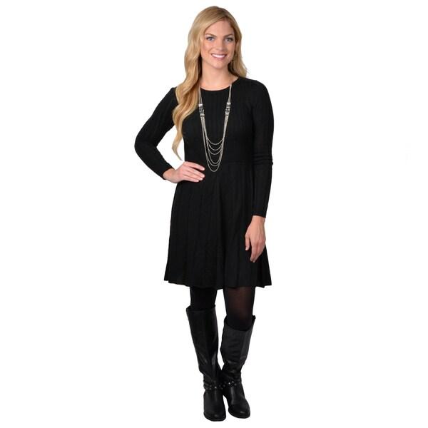 Jessica Simpson Women's Long Sleeve Sweater Dress