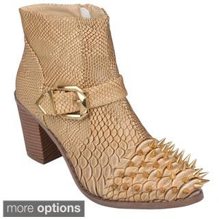 Journee Collection Women's 'Tiler' Spike Detail High Heel Ankle Boots