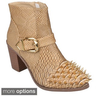 Journee Collection Women's 'Tiler' Spike Detail High Heel Ankle Boots