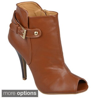 Journee Collection Women's 'Wynn' Open Toe High Heel Boots