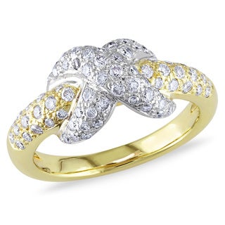 Miadora 18k Two-tone Gold 3/4ct TDW Diamond Ring (G-H, SI1-SI2)