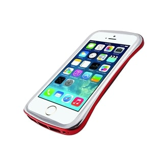 DRACO Silver/ Red Aluminum Bumper Case for Apple iPhone 5/ 5S
