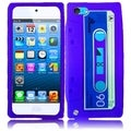 BasAcc Purple Cassette Silicone Case for Apple iPod touch 5