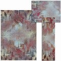 Nourison Abstract Living Collection Multicolored 3-piece Rug Set