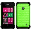 BasAcc Pearl Green/ Black TotalDefense Case for Nokia 521 Lumia