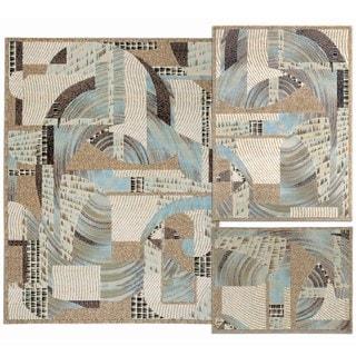 Nourison Brushed Textile Collection Beige 3-piece Rug Set
