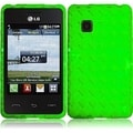 INSTEN Neon Green TPU Phone Case Cover for LG 840G