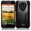 BasAcc Black Case with Stand for HTC Droid DNA 6435