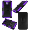 BasAcc Black/ Purple Holster Case with Stand for Samsung Galaxy Note 3