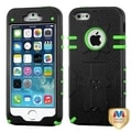 BasAcc Natural Black/ Green Hybrid Case for Apple iPhone 5/ 5S
