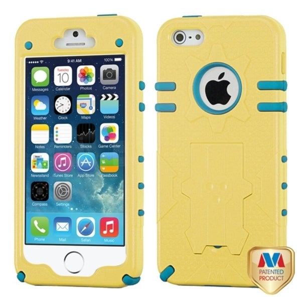 INSTEN Natural Baby Yellow/ Tropical Teal Phone Case Cover for Apple iPhone 5/ 5S