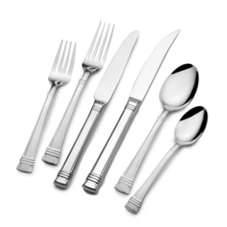 Maison Luxe 'Allure' 79-piece 18/10 Stainless Steel Flatware Set