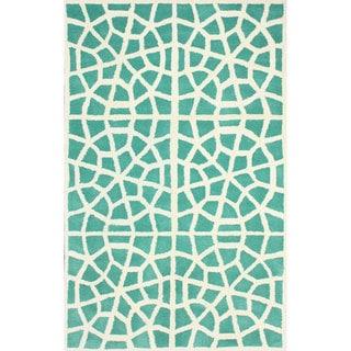 nuLOOM Handmade Cambridge Moroccan Trellis Wool Rug (7'6 x 9'6)