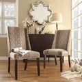 Inspire Q Regency Modern Oval Nailhead Wingback Hostess Chairs (Set of 2)