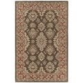 Hand-tufted Lawrence Brown Kashan Wool Area Rug (7'6 x 9')