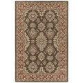 Hand-tufted Lawrence Brown Kashan Wool Rug (5'0 x 7'9)