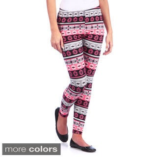 White Mark Aztec Print Leggings (One size)
