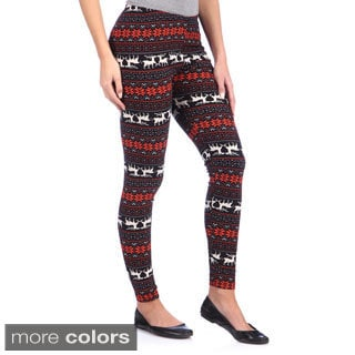 White Mark Women's Printed Leggings (One size)