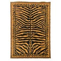 Kingdom Design Golden Brown Animal Skin Print Rug (5' x 7')