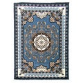 Kingdom Design Light Blue Traditional Area Rug (5' x 7')