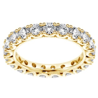 14K/18K Yellow Gold 2 1/3ct TDW Diamond Eternity Wedding Band