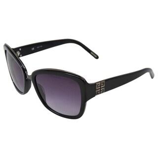 Givenchy Women's 'SGV827 700X' Black/Gunmetal Sunglasses