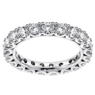 14K/18K Gold or Platinum 1 3/4ct TDW Diamond Eternity Wedding Band (F-G, SI1-SI2)