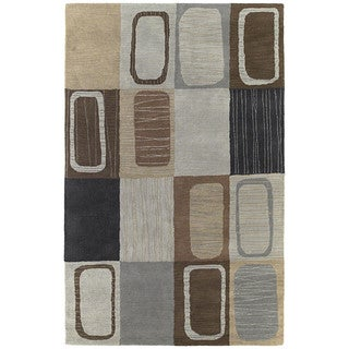 Hand-tufted Lawrence Multi Dimensions Wool Rug (5'0 x 7'9)