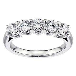 14K/18K White Gold or Platinum 1ct TDW Diamond Anniversary Ring (F-G, SI1-SI2)