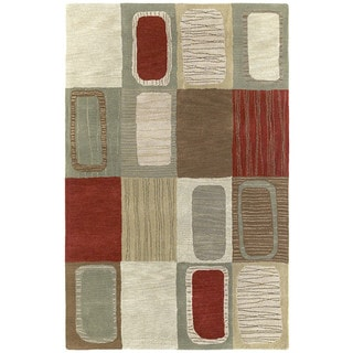 Hand-tufted Lawrence Multicolored Dimensions Wool Rug (8' x 11')