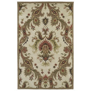 Hand-tufted Lawrence Multicolored Damask Wool Rug (7'6 x 9')