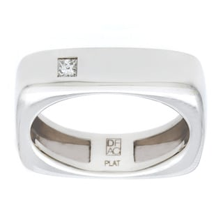Diamonds For A Cure Handmade Platinum Unisex 1/10ct TDW Diamond Wedding Band (H-I, VVS1-VVS2)