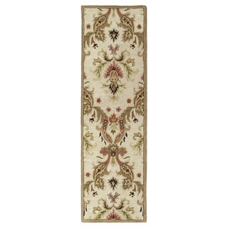 'Lawrence' Multi Damask Hand-tufted Wool Rug (5' x 7'9)