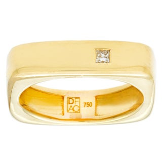 Neda Behnam DFAC 18k Yellow Gold Square Diamond Ring (H-I, VVS1-VVS2)