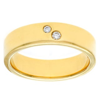 Diamonds For A Cure Handmade 18k Yellow Gold 1/10 Ct TDW Unisex Diamond Band (H-I, VVS1-VVS2)