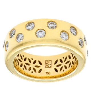Diamonds For A Cure 18k Yellow Gold Bezel Ring (H-I, VVS1-VVS2)