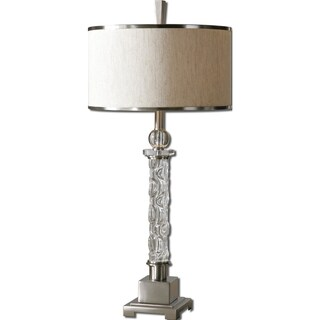 Campania 1-Light Brushed Aluminum Table Lamp