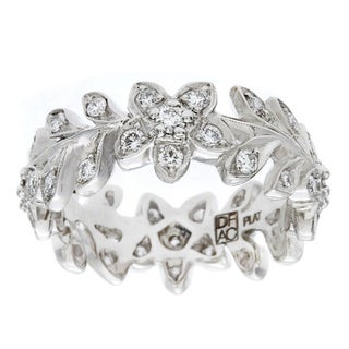 Diamonds For A Cure Platinum 3/4ct TDW Floral Vine Band (H-I, VVS1-VVS2)